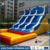 Diapositivas de agua inflables del precio de fábrica, diapositivas de agua grandes con la piscina