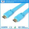 HDTV를 위한 매우 호리호리한 편평한 HDMI 케이블 지원 1080P/3D/4k