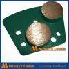 Двойное круглое крыло диаманта скрепления металла для конкретный молоть