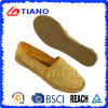 Chaussures occasionnelles populaires de femmes de santals plats et confortables de pêcheur (TN36712)