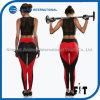 새로운 디자인 여자 까만 섹시한 스포츠 각반 및 빨간 심혼 개머리판쇠는 적당 요가 바지를 위로 민다