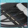 Cable de datos trenzado del USB de la promoción de la fabricación para el iPhone