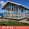 Edificio ligero de la estructura de acero como casa de lujo prefabricada del centro turístico de la aldea