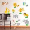 O animal caçoa etiquetas da decoração da parede do quarto