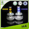 백색 24W 2000lm H4 LED Motorcycle Headlight