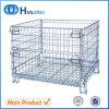 Складывая Stackable передвижная стальная клетка сетки хранения