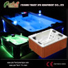 TERMAS de Massage Hot Tub de 3 pessoas/Bathtub/Hot com diodo emissor de luz Light de Mult-Color