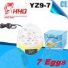 Heißer Verkauf, der 7 Ei-mini automatischen Ei-Inkubator Yz9-7 anhält