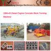 Bloco oco concreto &Movable manual do motor Diesel que faz a máquina