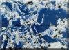Pedra artificial azul (mármore ou quartzo)