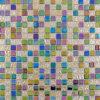 15X15mm Rough Metal Plated Glass Tiles 리듐 Linen
