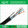 Cable de LAN de la red del ftp Cat5e 24AWG con el mensajero