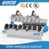 8 CNC Machine da escultura da linha central W2030atc 3D, router do CNC de Woodworking do router do CNC do ATC