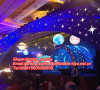 Night Club Events Stage Decoration를 위한 Multicolors Inflatable Planets Balloon