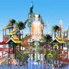 Parque de diversões grande da água dos jogos da água do parque do Aqua do jogo do parque da água do brinquedo da água dos produtos novos para a água de mar da praia
