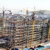 Stahlkonstruktion-Wohnbauvorhaben-Aufbau beenden