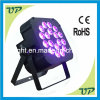 2014 nieuwe 18PCS 18W UV+a+R+G+B+W 6in1 Flat PAR LED Light