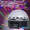 LED que enciende 6 la bola mágica cristalina de los colores 6X3w LED (QC-LE059)