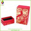 Rectángulo de regalo de papel de empaquetado de sellado caliente del oro