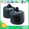 Noir en plastique de sac d'ordures de polyéthylène haute densité