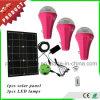 3개의 전구 및 이동 전화 충전기를 가진 소형 재충전용 휴대용 태양 가벼운 태양 장비