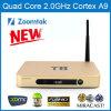 Двойное Band WiFi Zoomtak T8 TV Box с Kodi 14.1