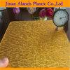 Лист 1250X1850mm ткани PMMA панели ткани золота акриловый