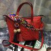 Le borse variopinte delle donne di modo della cinghia hanno impresso il sacchetto di Tote del cuoio genuino Emg4802