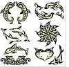 Tatuaje temporal del arte de la etiqueta engomada del tatuaje de la transferencia del agua del tatuaje del tótem