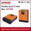hybride de 5kVA 4000W outre d'inverseur d'énergie solaire de réseau pour Transformerless