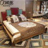 Кровать самомоднейшей конструкции с кожаный крышкой для мебели CH-623 спальни