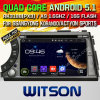 Carro DVD do Android 5.1 de Witson para Ssangyong Korando/ação (W2-A7066) com sustentação do Internet DVR da ROM WiFi 3G do chipset 1080P 8g