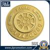 주물 아연 합금 금속 동전 모래 분사를 가진 빛나는 금 도금을 정지하십시오