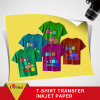 Papier de transfert lustré élevé de vente chaud de sublimation de la chaleur de jet d'encre d'impression de T-shirt