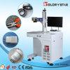 etiqueta de plástico óptica del laser de la fibra de los vidrios de reloj del CNC 20W