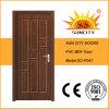 Nouveau prix de portes de toilette de PVC de couleur de noix de conception (SC-P047)