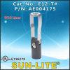 Portalámpara fenólica de la base de los candelabros E12 (Empujar-en los terminales); E12-T#
