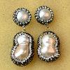 Pendiente cristalino de los pendientes de la perla barroca de la joyería de la alta calidad para la señora