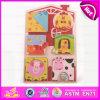 2015 Beste Gift voor 3D Houten Puzzel van Jonge geitjes, het Houten Dierlijke Raadsel van de Knop voor Kinderen, het Grappige Stuk speelgoed W14L007 van het Raadsel van de Knop van het Spel Houten