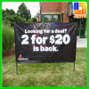 Display al aire libre Equipment Hanging Roll encima de PVC Flex Banner