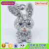 De leuke Charme van de Charme van het Konijn van het Kristal van het Metaal 3D Dierlijke