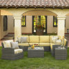 Patio Tuin Sofa Outdoor Rotan Wicker Lounge Set