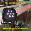 Luz decorativa del banquete de boda sin hilos barato de 15W Rgbaw DMX
