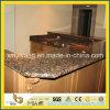 Partie supérieure du comptoir baltique préfabriquée de cuisine de granit de Brown