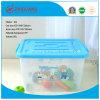 Transparenter Removeable Plastikkasten des mannigfaltige Größen-Plastikablagekasten-50L mit Griffen