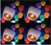 Lámpara ignífuga del cielo nocturno de la linterna del cielo, linternas de bambú del cielo del cielo de Ptinted de la linterna de papel del cielo del papel chino de la linterna