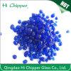 Granos de cristal coloreados azul de la forma oval decorativa