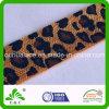 Cinta elástico impresa pantalla negra baja de oro de impresión del leopardo de Tan