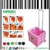 ピンクのプラスチックFoldable買物車2の車輪