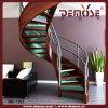 構築の木のガラス階段デザイン(DMS-1052)